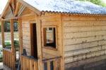 Snapshot of the wooden brick house at the Rockingham Montessori School